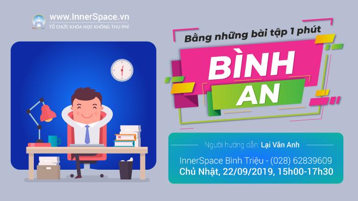 BÌNH AN BẰNG NHỮNG BÀI TẬP 1 PHÚT @ Innerspace Bình Triệu